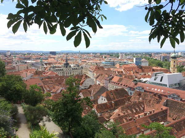 Graz castle hill